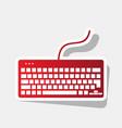 keyboard simple sign new year reddish vector image vector image
