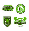 landscape design studio label set vector image vector image