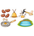 large set different items on white background vector image