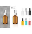 mock up realistic spray bottle cosmetic set vector image vector image