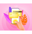 online payment smartphone concept man holding vector image