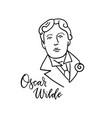 oscar wilde linear sketch portrait isolated vector image vector image