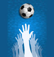 people hands together for soccer sport event vector image vector image