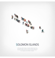 people map country Solomon Islands vector image vector image