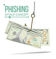 phishing money concept financial vector image