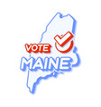 presidential vote in maine usa 2020 state map vector image