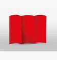 red tri-fold leaflet vector image