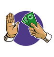 Rejecting Bribes vector image vector image