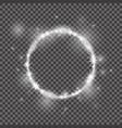round frame 2018 white glittering star vector image