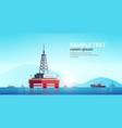 sea platform industrial offshore rig drilling vector image