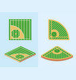set baseball sport game field competition vector image vector image