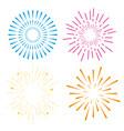 set fireworks to happy celebration event vector image