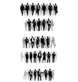 several groups of businessmen vector image vector image