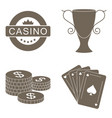 simple set of gambling related icons vector image vector image