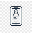 smartphone app concept linear icon isolated on vector image