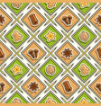 spice seamless pattern vector image