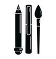 stationery icon simple black style vector image vector image