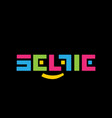stylized color logo selfi on a black vector image vector image