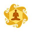 sun yoga vector image vector image