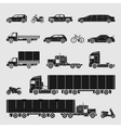 symbol set car vector image vector image