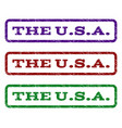 the usa watermark stamp vector image vector image