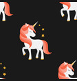 unicorn with closed eyes pink mane seamless vector image vector image