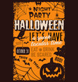 vintage halloween party poster vector image