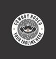 western cowboy emblem or stamp logo design vector image vector image