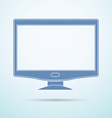 Widescreen monitor flat icon on blue background vector image vector image
