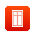 wooden window icon digital red vector image vector image