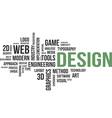word cloud design vector image vector image