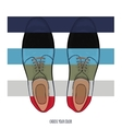 Advertising men shoes different colors Business vector image