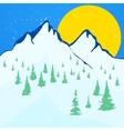 Beautiful winter landscape background vector image