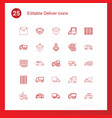 25 deliver icons vector image vector image