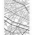 abstract city map in black and white vector image