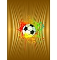 Abstract gold background with soccer ball vector image vector image