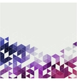 Abstract technology background with triangle vector image
