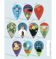 Administration map pins vector image