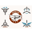Aviation Emblem Set vector image vector image