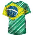 Brazilian tee vector image vector image