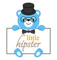 Cartoon bear hipster vector image vector image