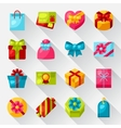 Celebration icon set of colorful gift boxes vector image vector image