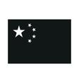China Flag monochrome on white background vector image vector image