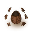 chocolate puzzle egg explosion vector image