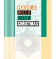 Christmas greeting vector image