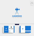 cloud video movie badge simple logo template with vector image vector image