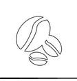 coffee grains icon design vector image