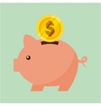 coin savings piggy isolated icon vector image