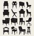 Collection Silhouette of chairs vector image