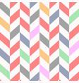 colorful seamless chevron pattern beautiful vector image